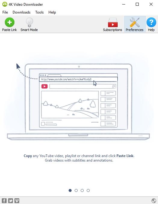 preferences in 4k video downloader