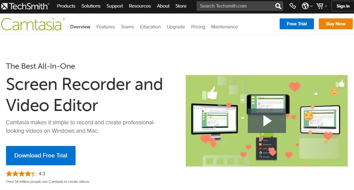 Camtasia screen recording software
