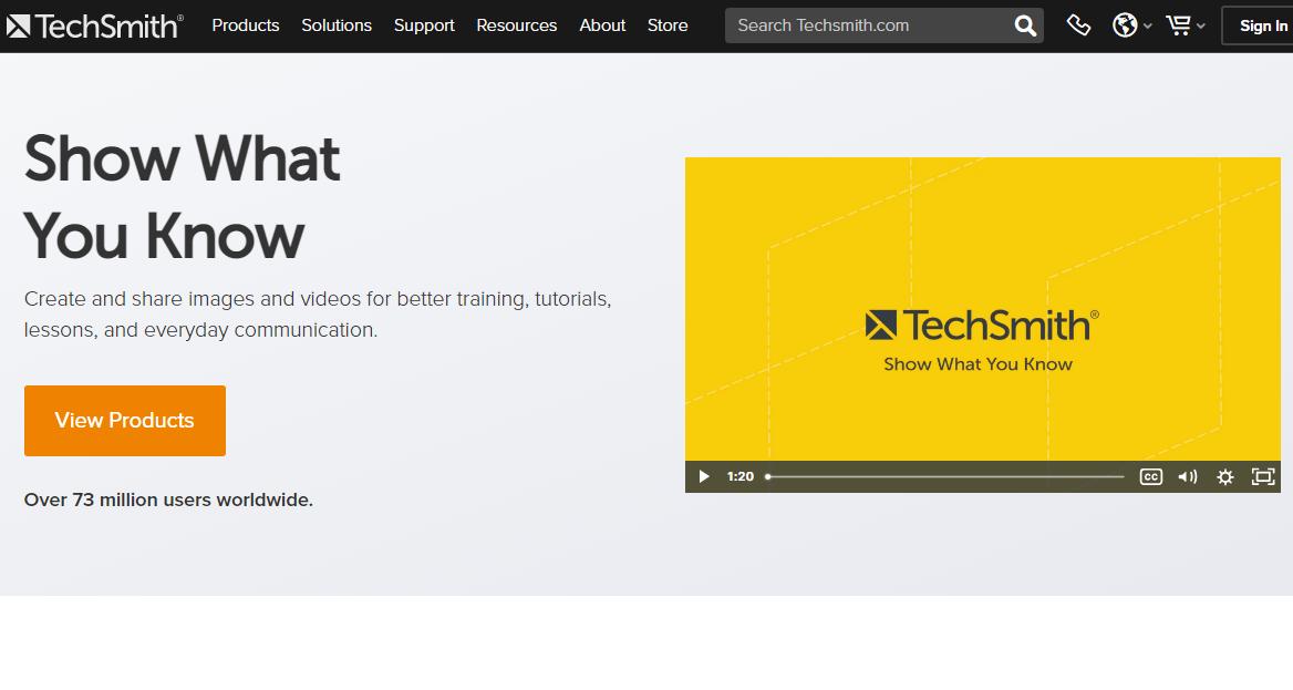 TechSmith screen recorder