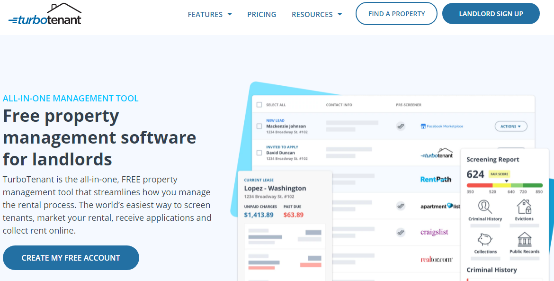 TurboTenant Property Management Software