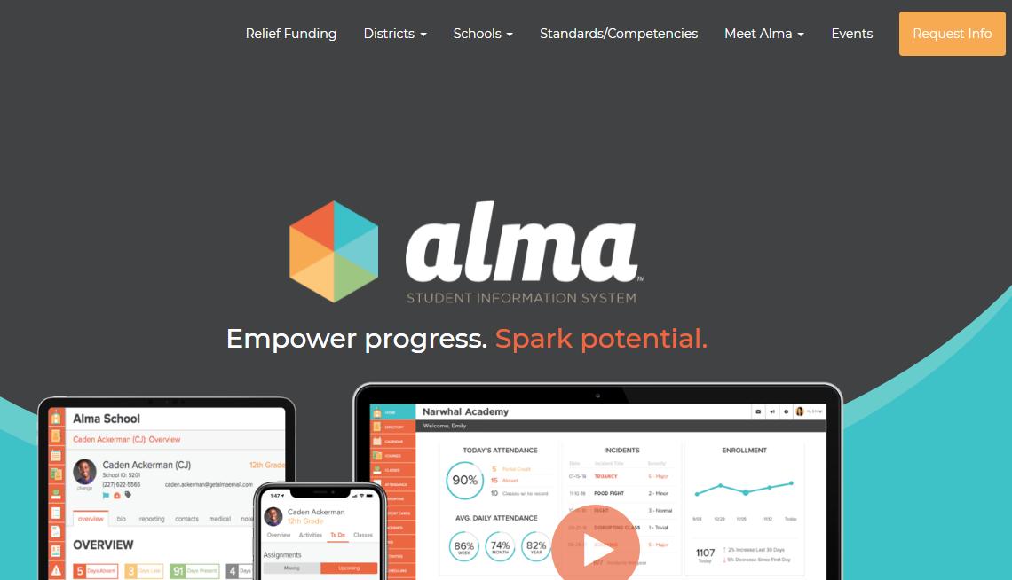 Alma school management software