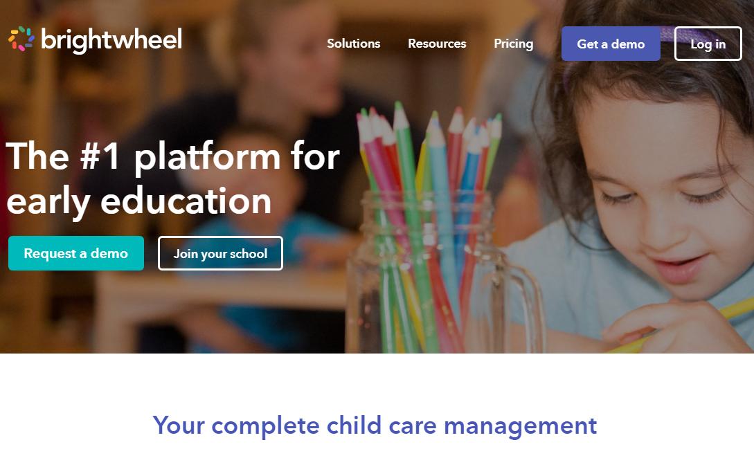 Brightwheel school management software