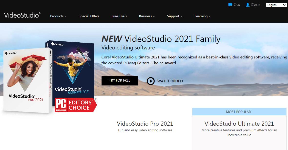 Corel Video Studio Video Editing Software