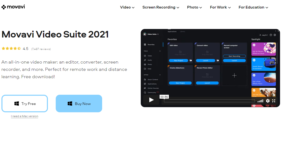 Movavi Video Suite video editing software