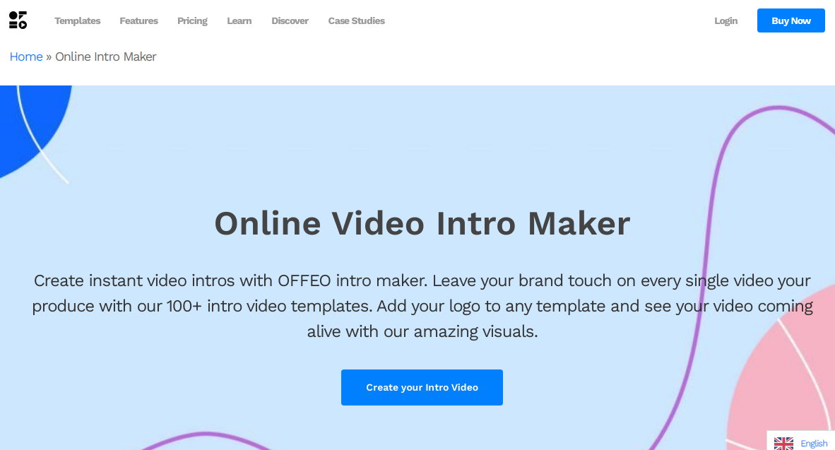 Offeo Online Youtube Intro Maker