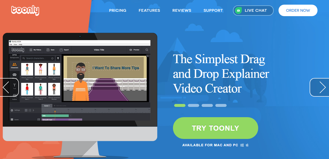 Toonly explainer video software