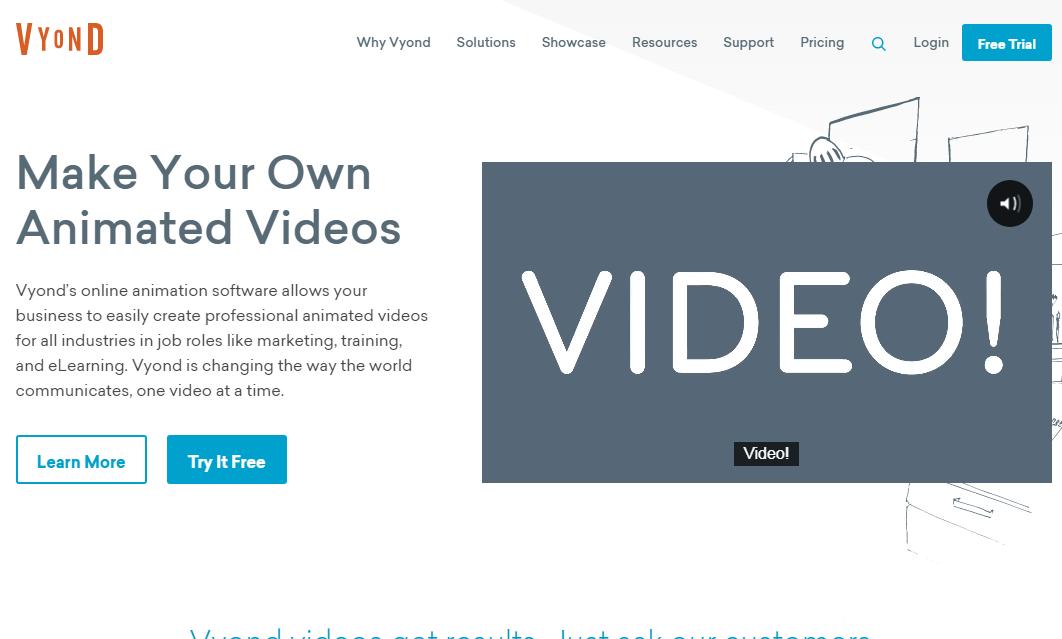 Vyond explainer video software