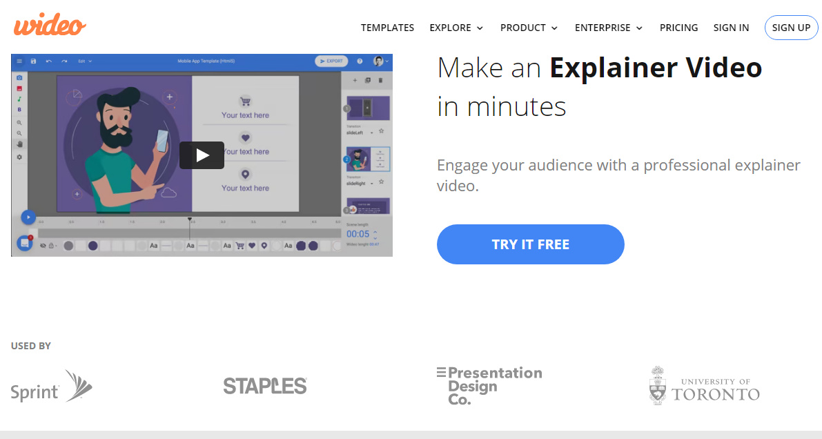 Wideo Explainer Video Maker