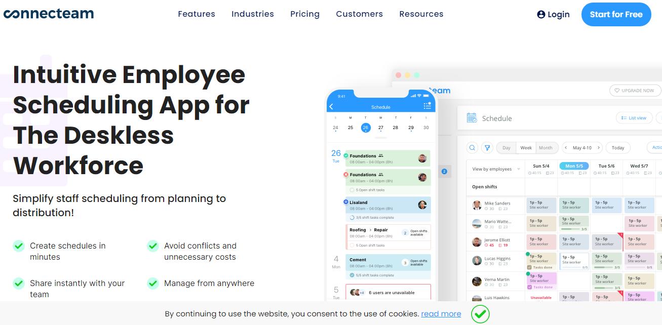 Connecteam Employee Scheduling App