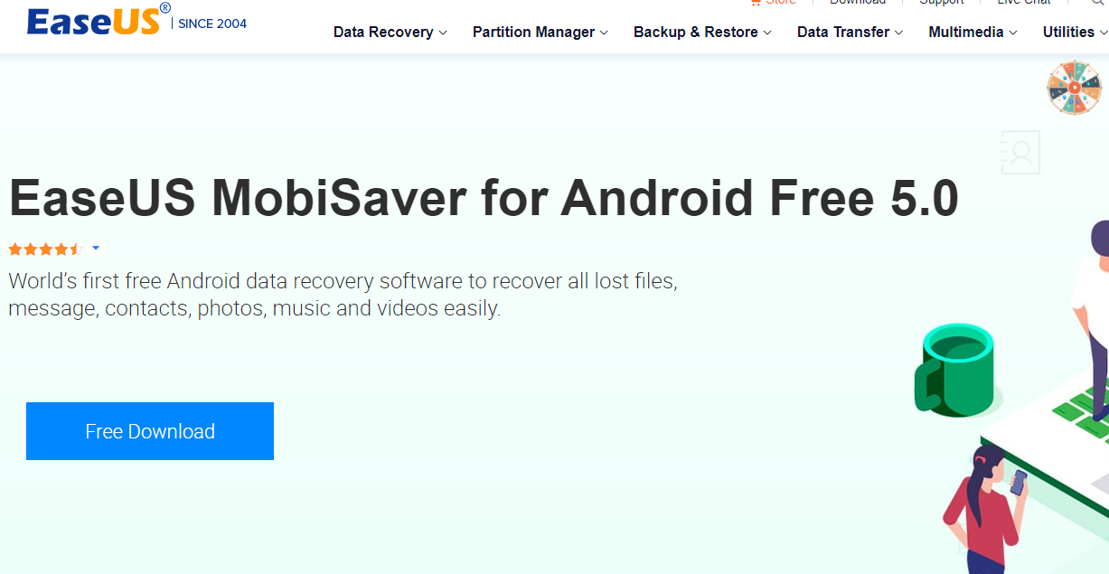 EaseUS android data recovery software free