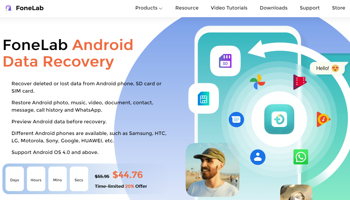 FoneLab android data recovery software