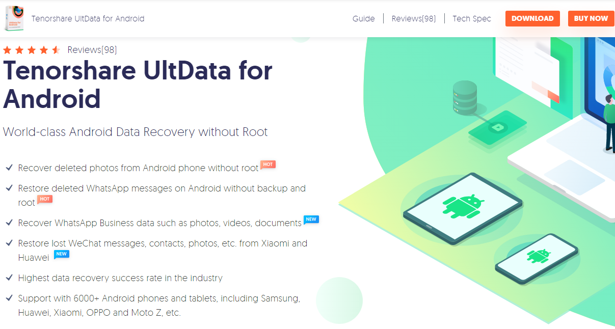 TenorShare UltData Android data recovery software