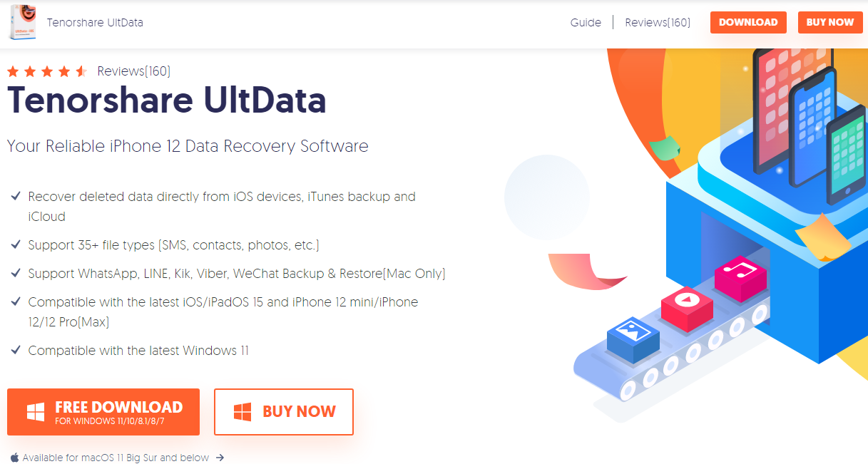Tenorshare UltData iPhone Data Recovery Software
