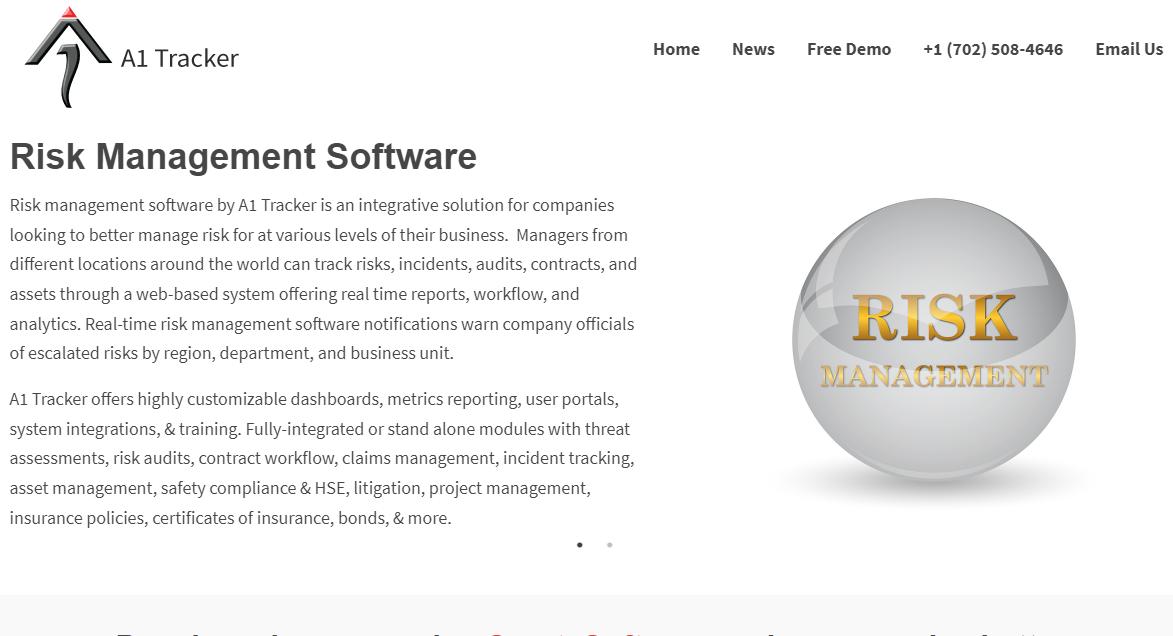 A1 Tracker risk management software