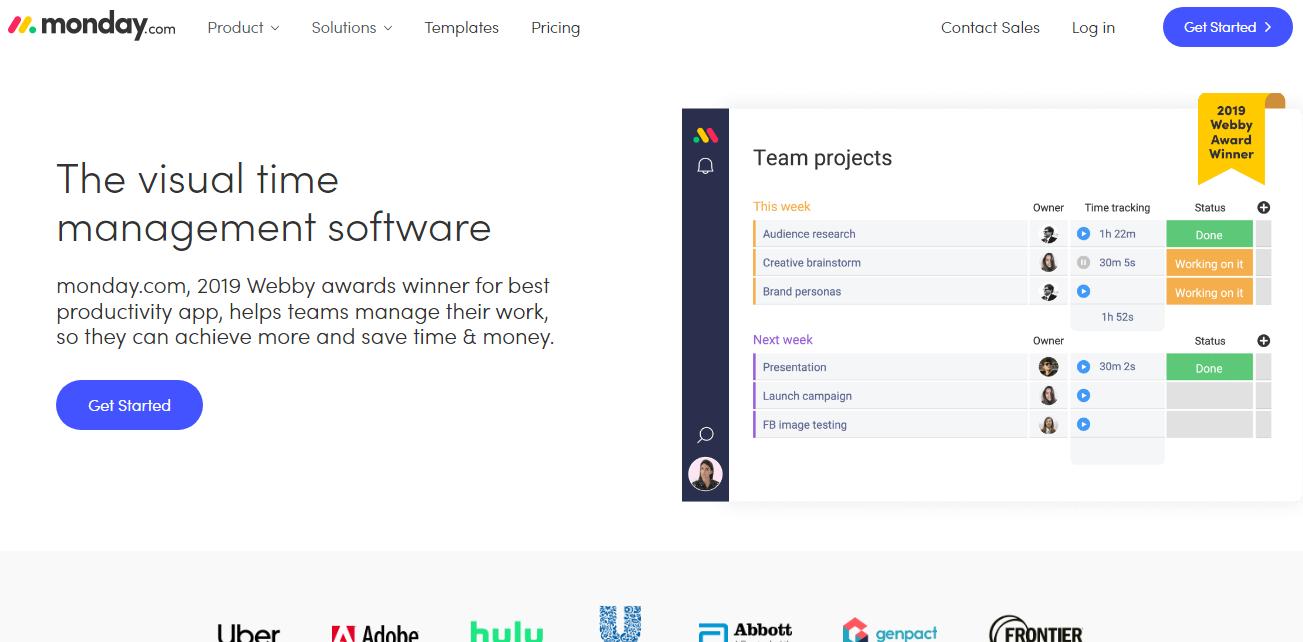 Monday.com Time Management Software
