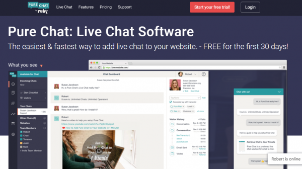 Pure Chat Live Chat Software