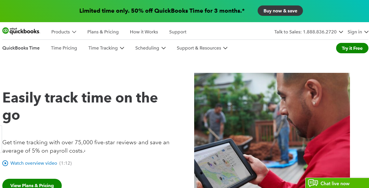 TSheets Best Employee Time Tracking Software