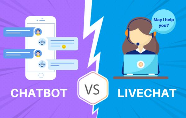 chatbot vs live chat